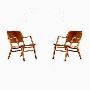 Danish Ax-Chairs by Peter Hvidt & Orla Mølgaard Nielsen, 1950s, Set of 2