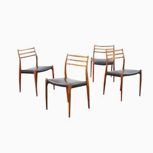 Chaises de Salon No. 78 par Niels Otto Moller, 1958, Set de 4