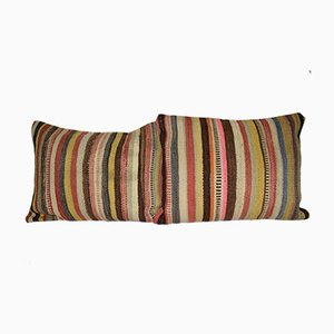 Striped Turkish Kilim Cushion Covers, Set of 2