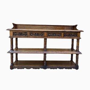 19th-Century Antique French Renaissance Oak Long Sideboard