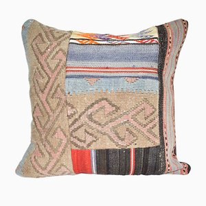 Vintage Handmade Natural Color Kilim Cushion Cover