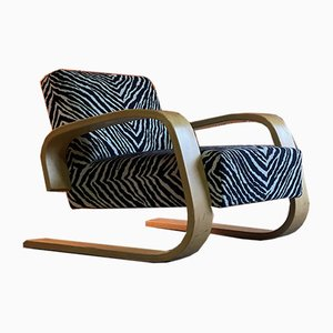 Model 400 Zebra Tank Chair by Alvar Aalto for Artek, 1970s