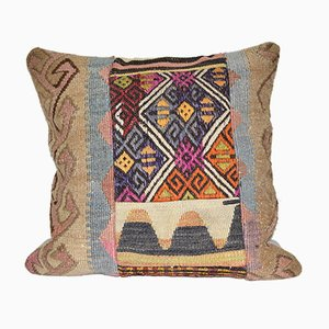 Large Hand-Woven Patchwork Kilim Cushion Cover Kilim