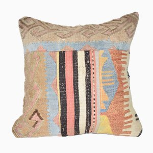 Large Vintage Turkish Handmade Patchwork Kilim Cushion Cover