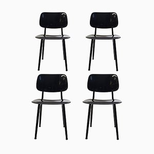 Mid-Century Revolt Chairs by Friso Kramer for Ahrend De Cirkel, Set of 4