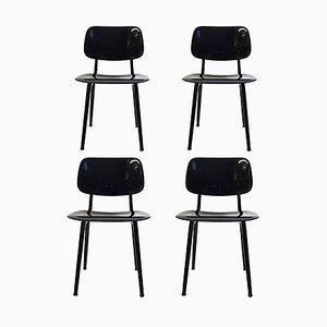 Mid-Century Revolt Stühle von Friso Kramer für Ahrend De Cirkel, 4er Set