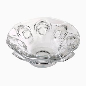 Large Mid-Century Crystal Bowl from Val Saint Lambert