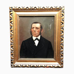 Retrato, siglo XIX, óleo sobre lienzo