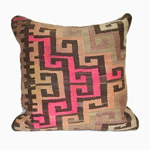 Vintage Turkish Organic Wool Kilim Cushion Cover