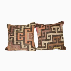 Turkish Kars Kilim Cushion Covers, Set of 2