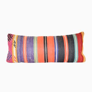 Striped Turkish Lumbar Kilim Cushion Covers