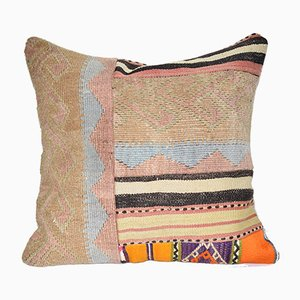 Turkish Multicolor Patchwork Kilim Cushion Cover