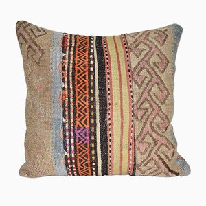 Vintage Turkish Patchwork Kilim Cushion Cover