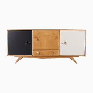 Modernist Sideboard with Compass Feet, 1950s