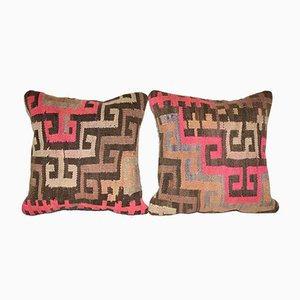 Vintage Anatolian Cushion Cover, Set of 2