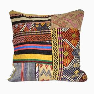 Handmade Turkish Patchwork Kilim Cushion Cover