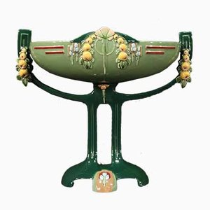 Art Nouveau Cup in Glazed Majolica from Eichwald, 1920s