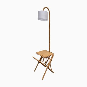 Mid-Century Rope Floor Lamp by Adrien Audoux & Frida Minet