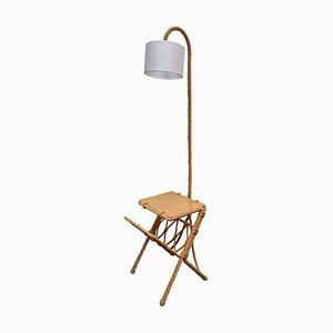 Mid-Century Stehlampe aus Seil von Adrien Audoux & Frida Minet
