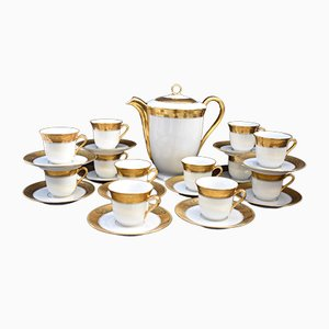 Porcelain Coffee Service Set from Limoges, Set of 25