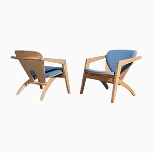 Model GE 460 Butterfly Chairs by Hans J. Wegner for Getama, 1970s, Set of 2