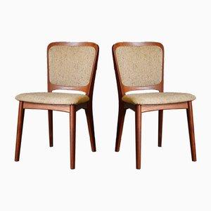 Dänische Esszimmerstühle von Niels Koefoed für Koefoeds Hornslet, 1960er, 2er Set
