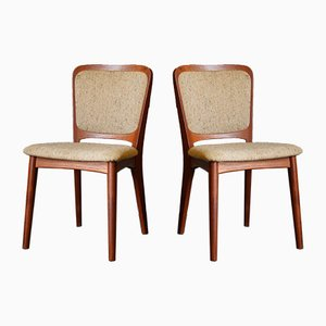 Danish Dining Chairs by Niels Koefoed for Koefoeds Hornslet, 1960s, Set of 2