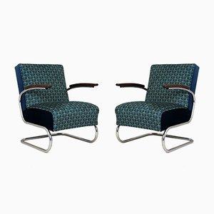 Art Deco Sessel mit Rohrrahmen von Willem Hendrik Gispen für Mücke Melder, 1930er, 2er Set