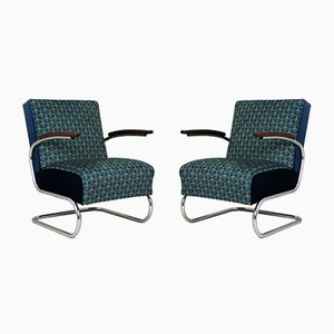 Art Deco Tubular Armchairs by Willem Hendrik Gispen for Mücke Melder, 1930s, Set of 2