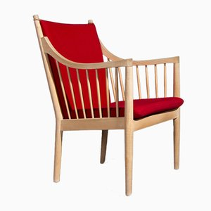Model PP105 Red Armchair by Hans J. Wegner for PP Møbler, 1970s
