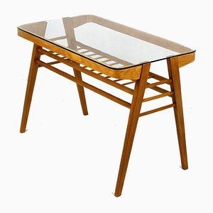 Wooden Coffee Table with Glass Top by František Jirák, 1960s