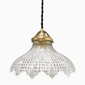 Mid-Century Lace Ceiling Lamp from Holophane