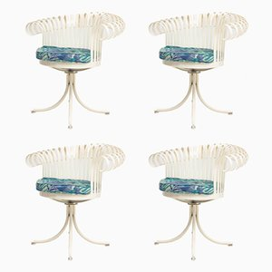 Mid-Century Italian Swivel Chairs, Set of 4