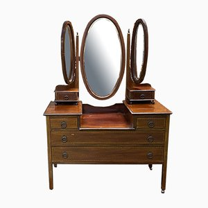 Vintage French Mahogany Dressing Table
