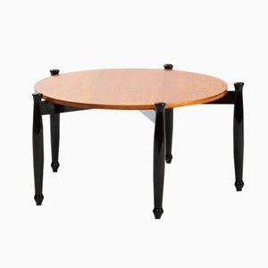 Italian Modern Coffee Table with Ebonized Legs