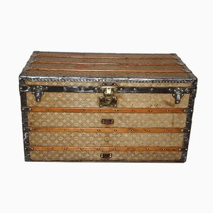 Antique Woven Canvas Courier Trunk from Louis Vuitton