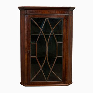 Antique English Mahogany Corner Cabinet