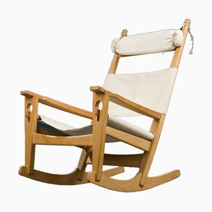 Danish Model GE-273 Rocking Chair by Hans J. Wegner for Getama, 1950s