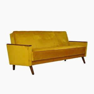 Klappbares Mid-Century Sofa aus Samt, 1960er
