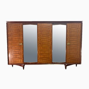 Inlaid Rosewood Wardrobe from Dassi, 1950s