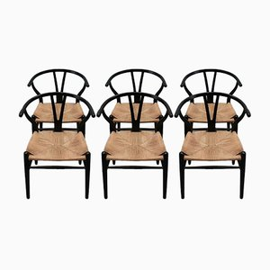 Wishbone Armchairs by Hans Wegner for Carl Hansen & Søn, 1960s, Set of 6