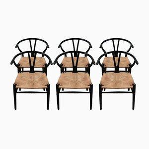 Wishbone Armchairs by Hans Wegner for Carl Hansen & Søn, 1960s, Set of 6