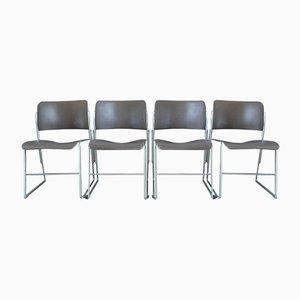 Modell 40/4 Esszimmerstühle von David Rowland für GF Furniture, 1960er, 6er Set