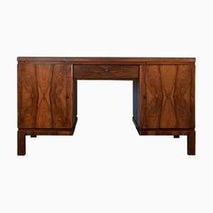 Large Bohemian Art Deco Writing Desk, 1930s