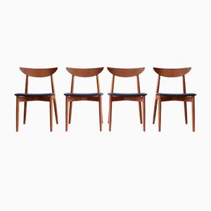 Scandinavian Suite of Chairs by Peter Hvidt & Orla Mølgaard-Nielsen, 1960s, Set of 4
