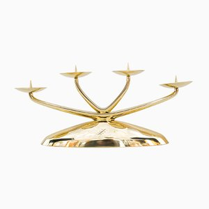 Art Deco Brass Candle Holder from WMF, 1930s
