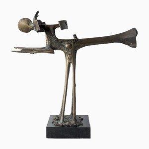Wim Rijvers, Abstract Bronze Sculpture, 1980s