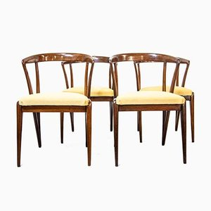 Dining Chairs by Bertha Schaefer for Singer & sons, 1950s, Set of 4