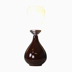 Mid-Century Balsamic Vinegar Drop Table Lamp
