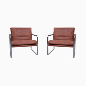 Vintage Lounge Chairs by Preben Fabricius & Jørgen Kastholm for Knoll, Set of 2